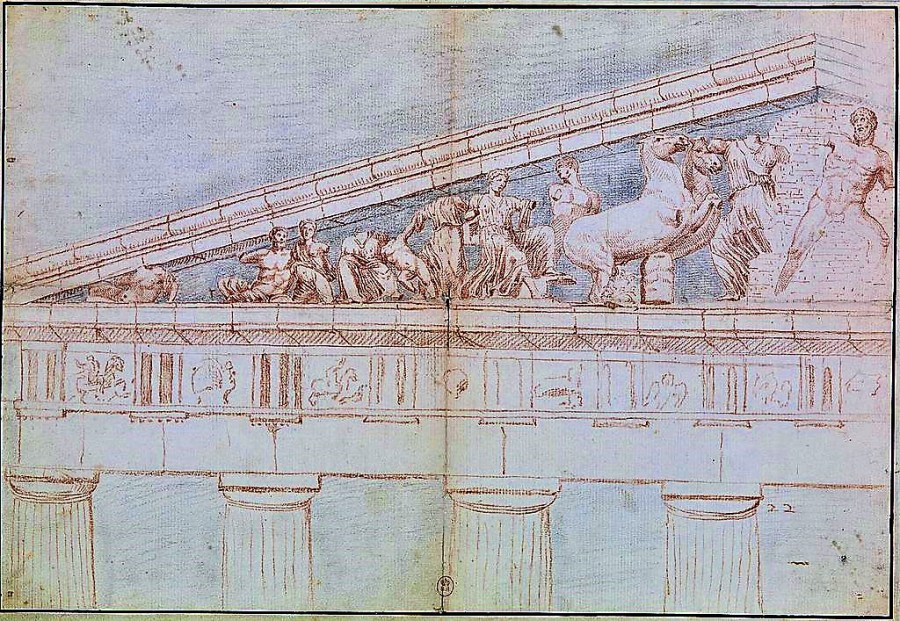 The Parthenon by Jacques Carrey 1674