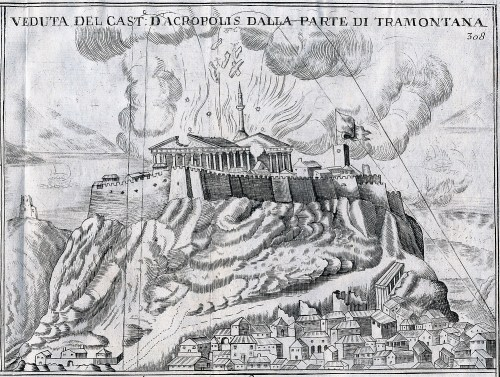 The Acropolis explosion in 1687