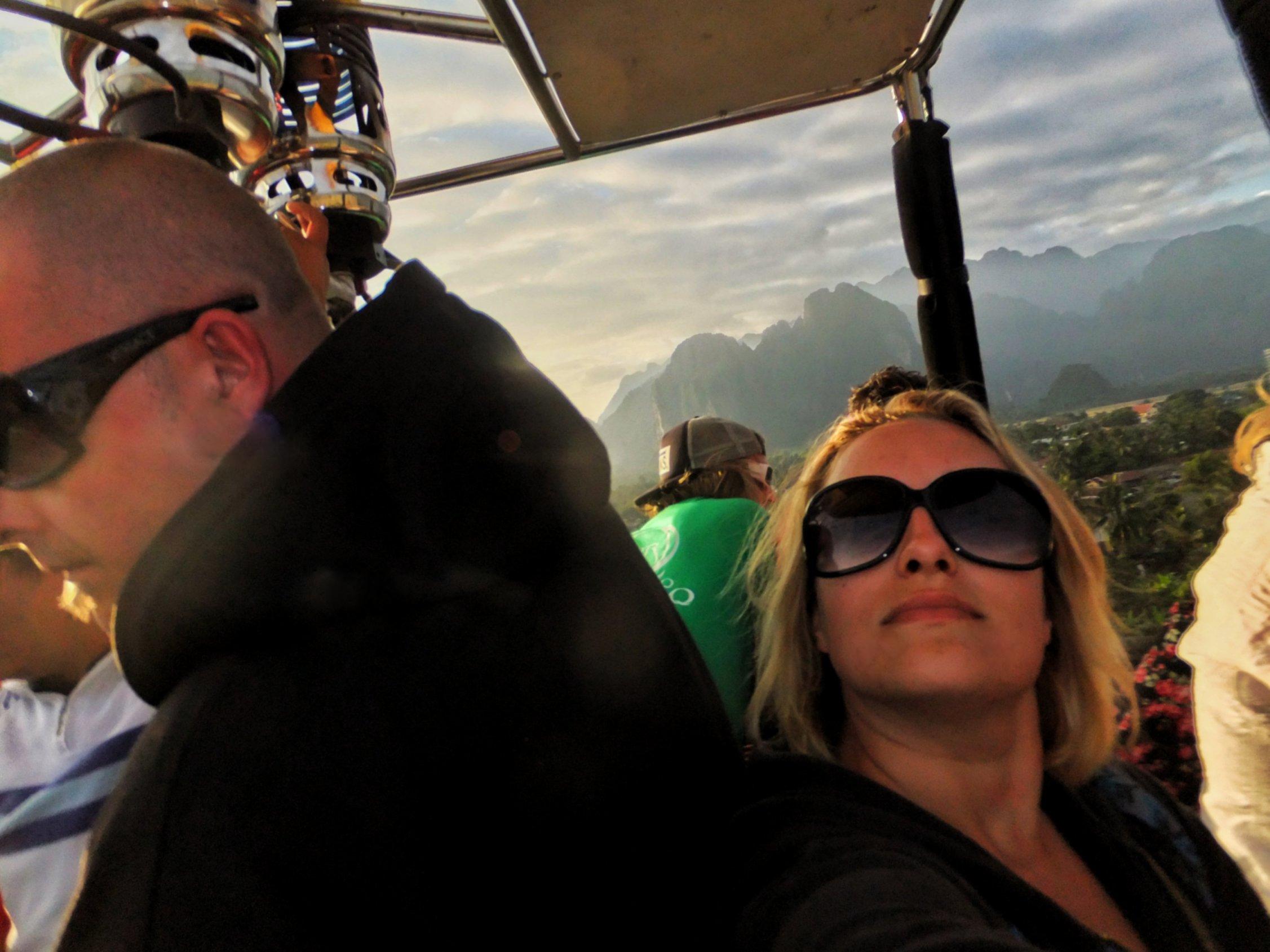 Hot Air Balloon Ride In Vang Vieng