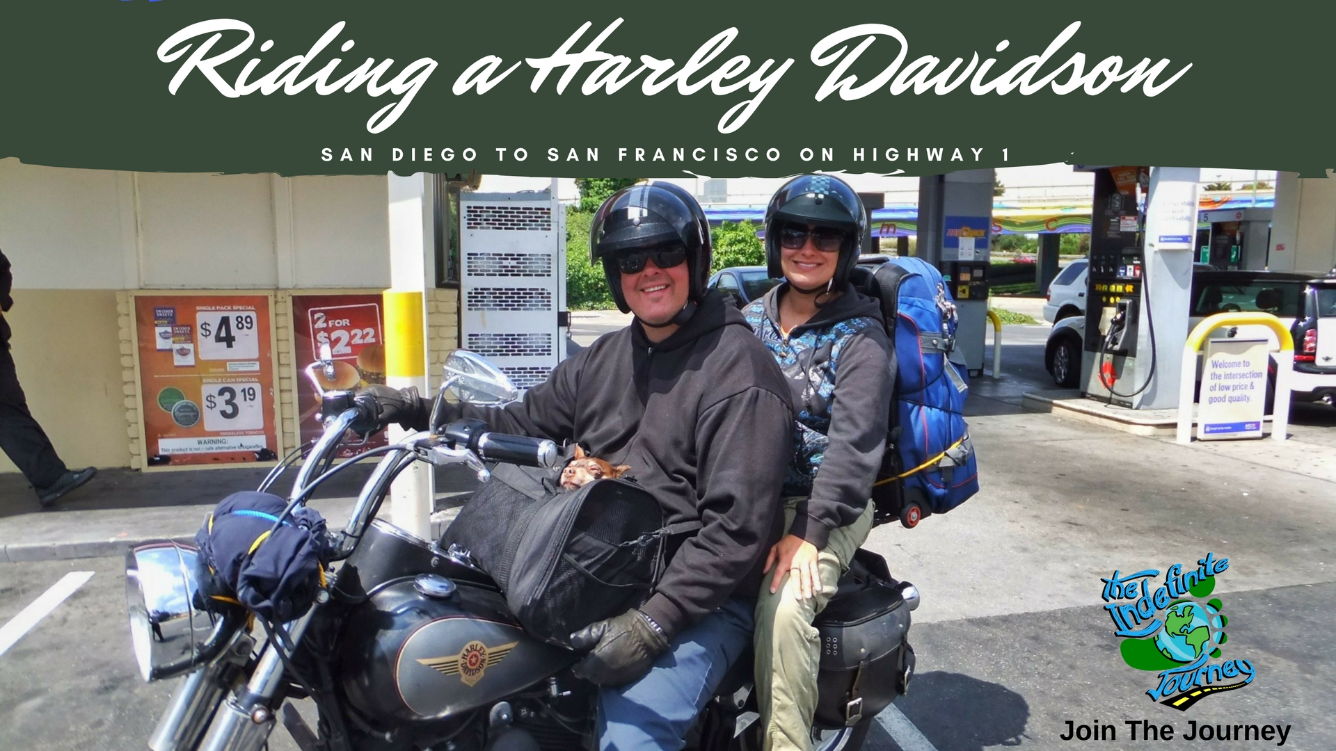 Riding a Harley Davidson from San Diego to San Francisco on Highway 1