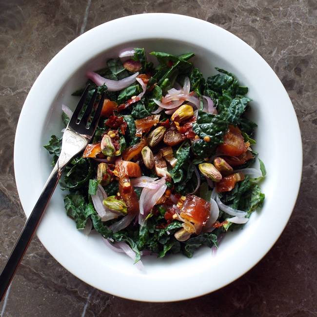 sweet and spicy kale salad vegan gluten free spinach