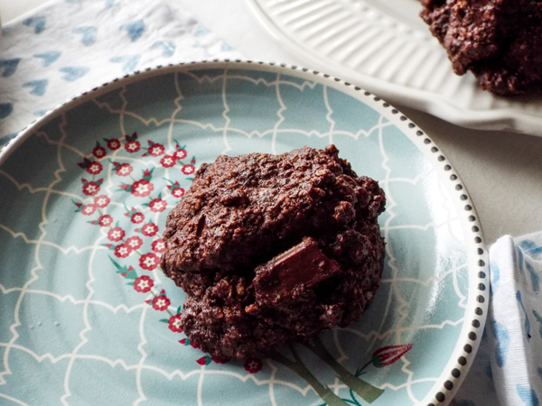 double chocolate chip oatmeal cookies gluten free