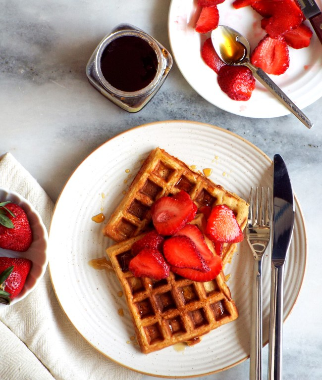 oat whole wheat waffles