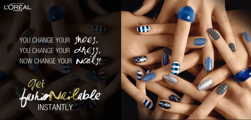 Get Fashionailable With New L Oreal Paris Le Nail Art Stickers
