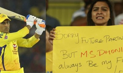 ICC Couldn't Stop Themselves Sharing A Picture Of Girl Proposing MS Dhoni During Live Match