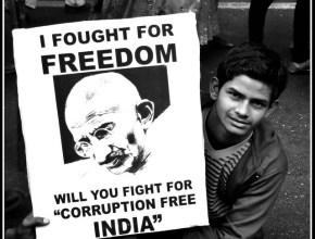 Manifestation contre la corruption ©Deepankar Raj