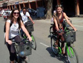 Cyclin'Jaipur dans les rues de la ville