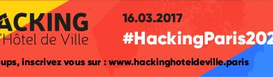 Le hacking de l'Hôtel de Ville aura lieu le 16 mars 2017 logo