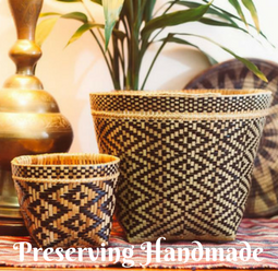 Handscart preserving handmade. Buckets handmade from indonesia