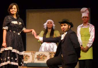 """English Play """"The Bear"""" being staged during Saupins Schools Annual Function 'Spotlite' - Photo By : Barinder Saluja"""