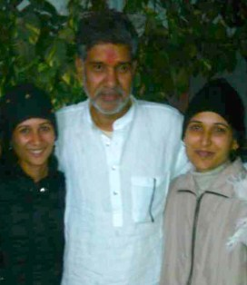 Yasha Sharma and Himansha with Kailash Satyarthi
