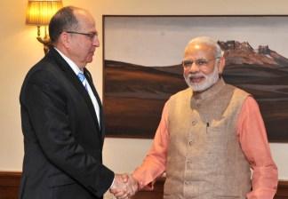 The Defence Minister of Israel, Mr. Moshe Ya'alon calls on the Prime Minister, Shri Narendra Modi, in New Delhi on February 19, 2015.