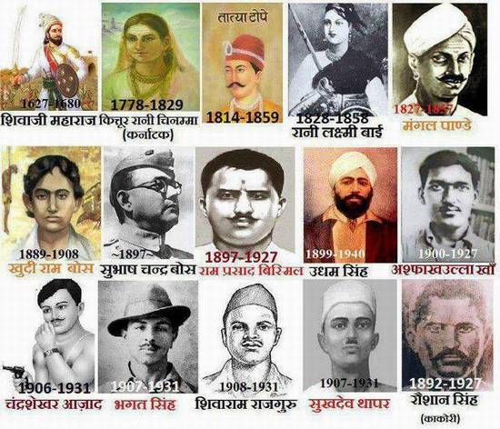 Freedom Fighters Of India Photos
