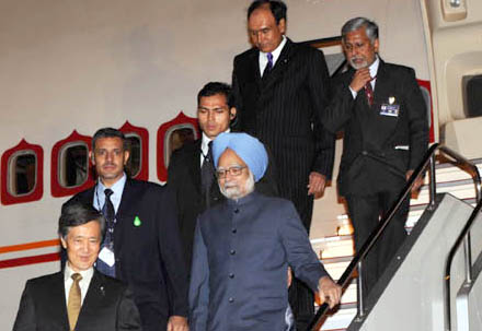 The Prime Minister, Dr. Manmohan Singh arrives at Tokyo International Airport, Haneda to attend the Indo Japan Summit, in Japan on October 21, 2008.