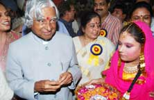 Dr. A.P.J.Abdul Kalam, Former President of India preside over a function at Bhavan's SL Public School, Amritsar, Punjab, India – Photographs by - Prabhjot Gill