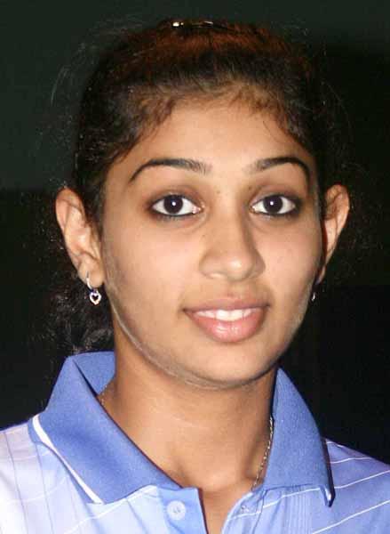 Olympian Neha Aggarwal who was upset by K Shamini