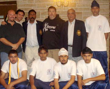 Indian team with the technical official of the World Table Soccer Federation in USA.
