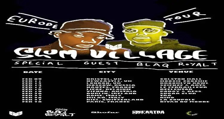 Slum Village announces European Tour w/ Blaq RoyalT