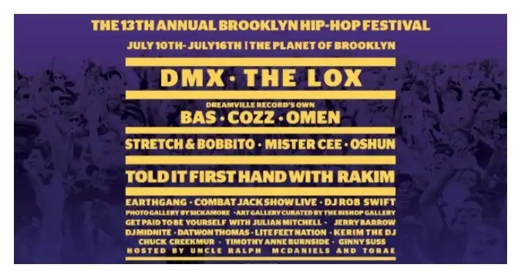 DMX And The LOX Headline 2017 Brooklyn Hip-Hop Festival