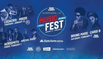 First Ever Bud Light Music Festival Brings The Biggest Names In Music Bruno Mars, Cardi B, Aerosmith, Ludacris, Migos, Lil Yachty, Lil Baby And More To The City Of Atlanta And NFL Fans