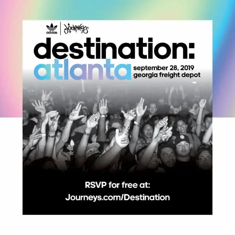 Journeys Partners with adidas Originals for Free Music Festival, 'Destination: Atlanta' Sept. 28