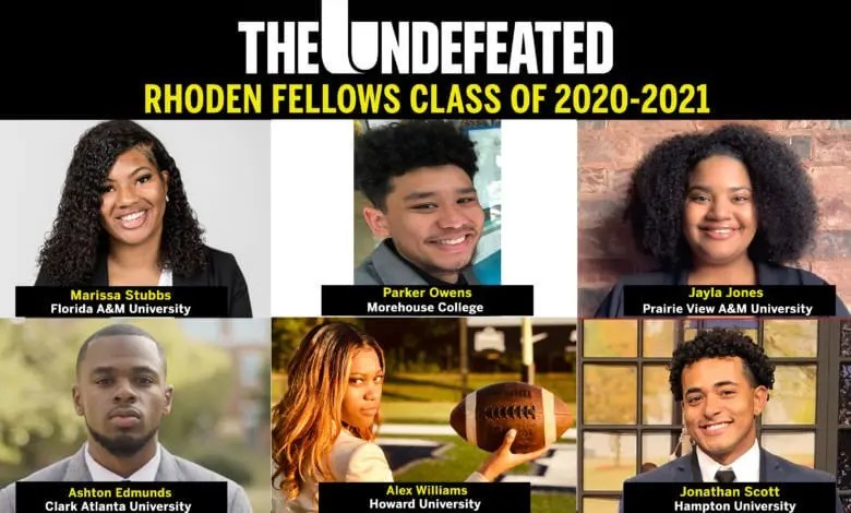 ESPN The Undefeated Names the Fourth Class of Six Rhoden Fellows