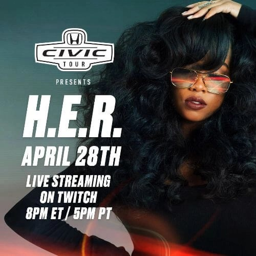 H.E.R. Headlines 20th Anniversary Virtual Honda Civic Tour