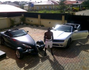 jim iyke's cars and house