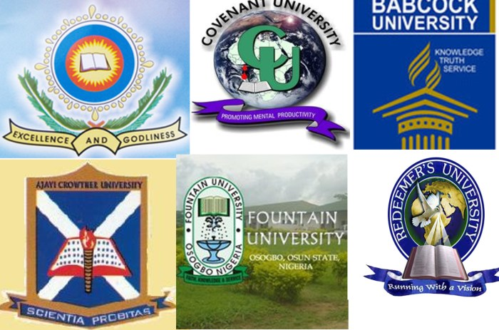 list of private universities school Fees in Nigeria