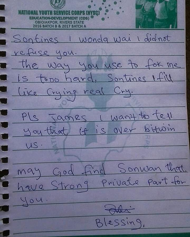 Breakup note