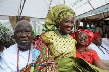 Mercy Johnson parents (Her mum is late)