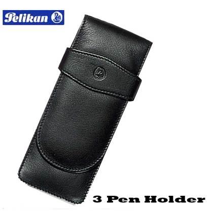 Pelikan Leather Triple Pen Case