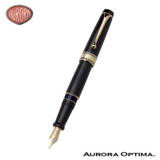 Aurora Optima Black fountain pen
