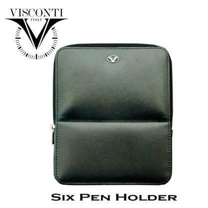 Visconti Leather 6 Pens Holder