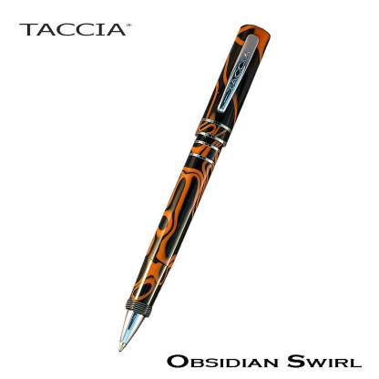 Taccia Alto Obsidian Swirl Roller Pen