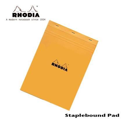 Rhodia Pad Staple Bound Lined