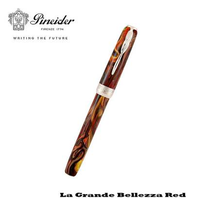 Pineider Grande Belleza Red Fountain Pen