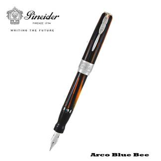 Pineider Arco Blue Bee Fountain Pen Open
