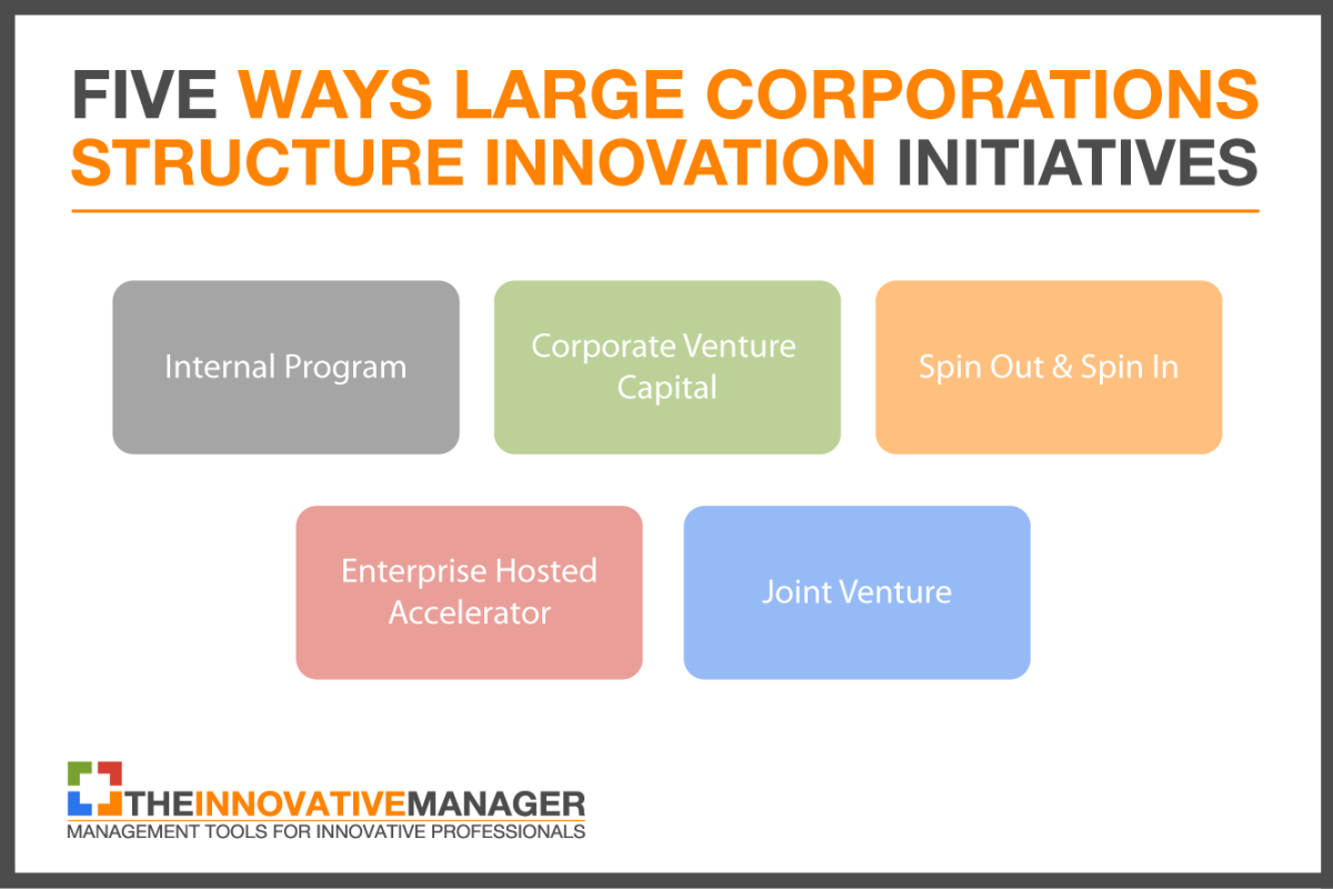 five ways large corporations structure innovation
