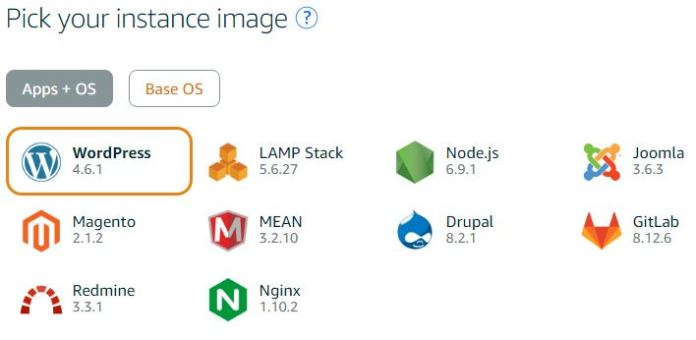 Wordpress Instance Image