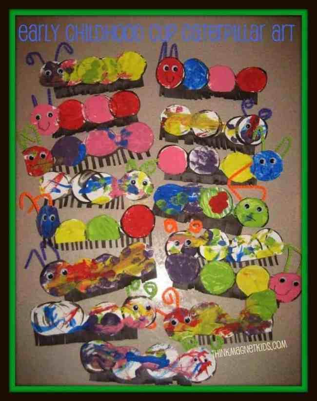 caterpillar art on wall