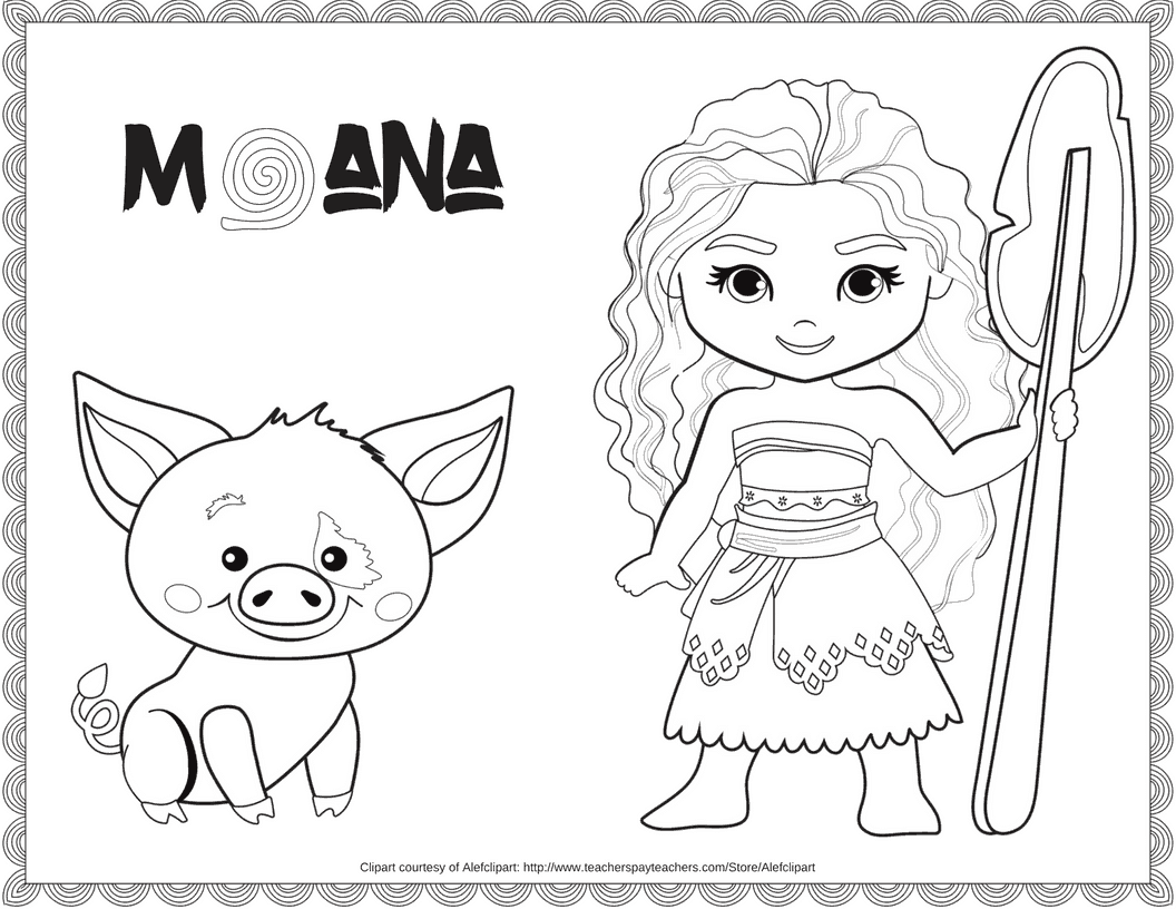 Exclusive Free Disney Moana Coloring Printable The