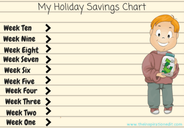 My Holiday Savings Chart