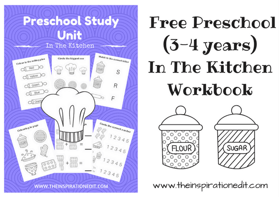 Preschool Study Unit In The Kitchen