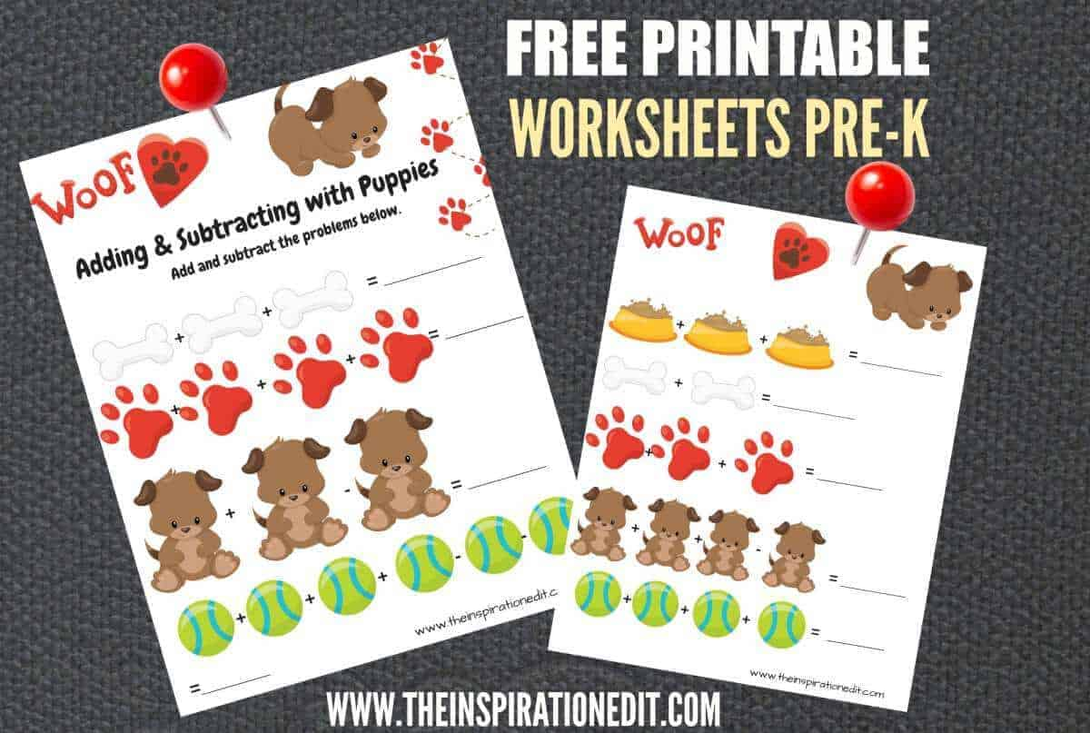 Free Dog Maths Worksheets For 3 5 Year Olds The