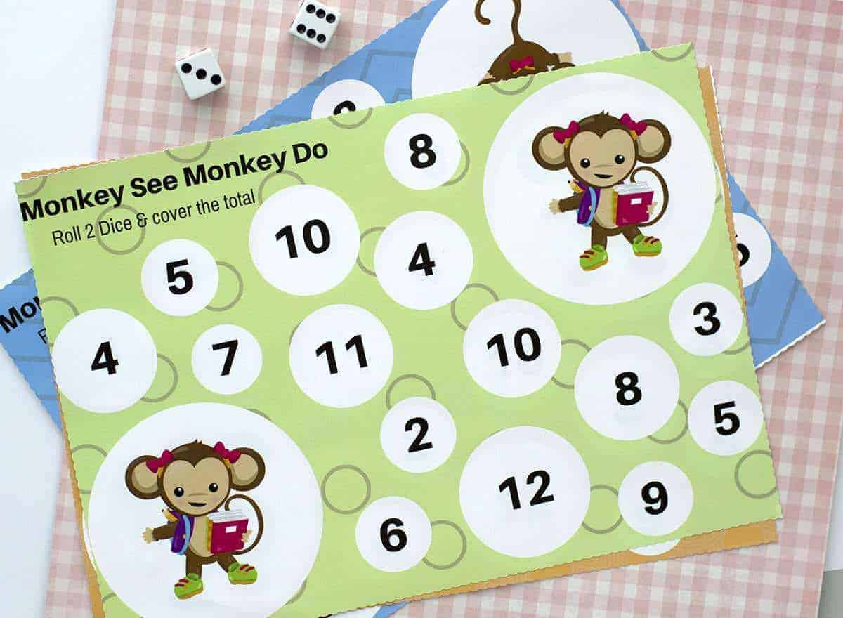 Monkey See Monkey Do Kids Counting Game The Inspiration Edit