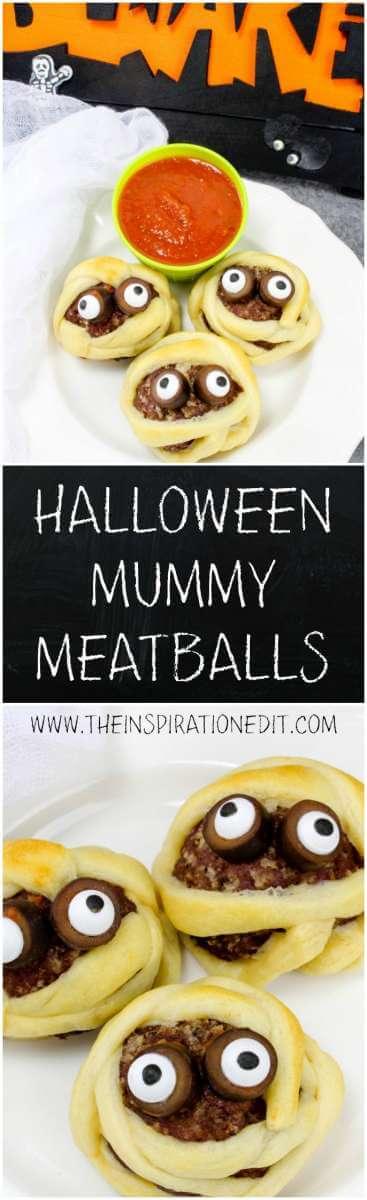 mummy meatballs halloween