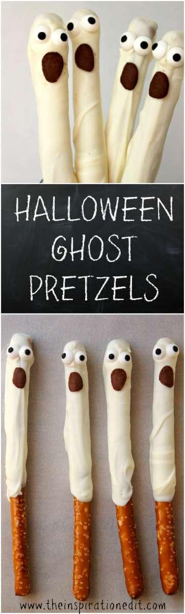 halloween Ghost Pretzels