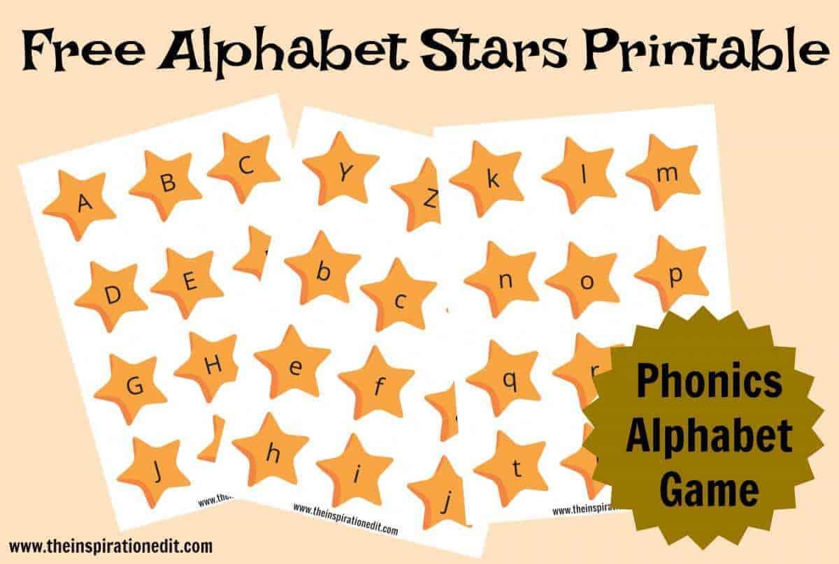 Free Alphabet Stars Phonics Printable The Inspiration Edit