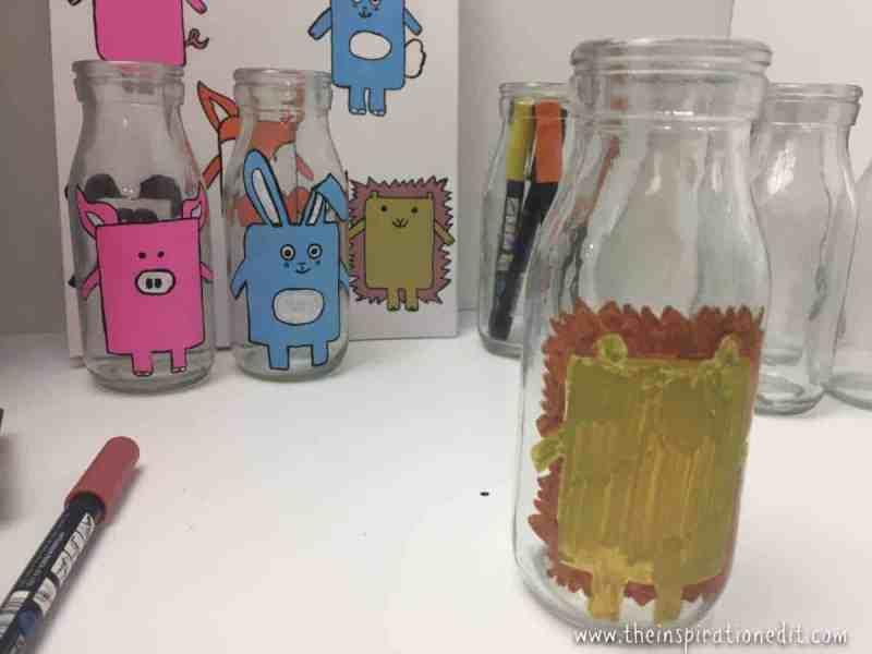 milk bottle hedgehog craft
